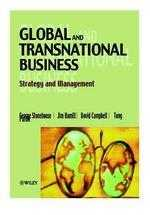 Global and transnational business : strategy and management