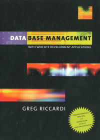 Database management with Web site development applications