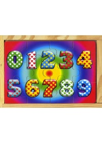 0 ~ 9數字學習拼圖盒