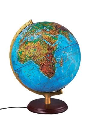 32CM(燈光)雙語對照地形、行政區地球儀:教學專用
