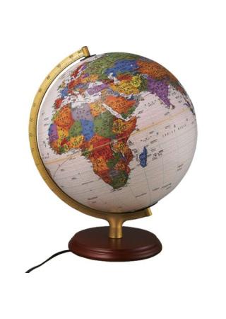 32CM(燈光)雙語對照古典行政區地球儀:教學專用