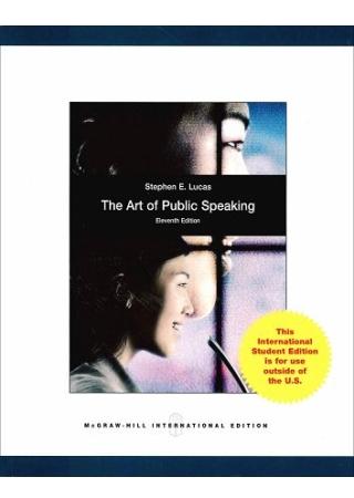 The Art of Public Speaking 11 e