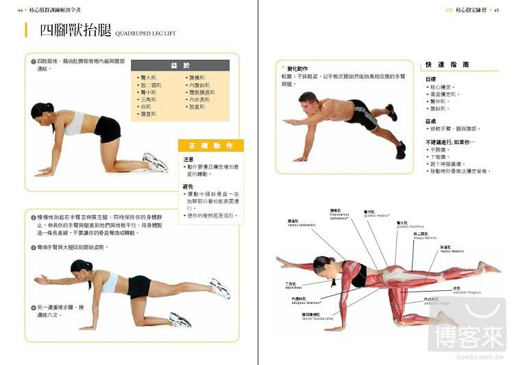 ◤博客來BOOKS◢ 暢銷書榜《推薦》核心肌群訓練解剖全書:每週3天,擁有超型腹肌、強健體能,打造不疲累的身體