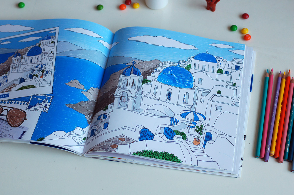 ◤博客來BOOKS◢ 暢銷書榜《推薦》旅人時光Coloring and the City:第一本以環遊世界為主題的舒壓著色書【隨書贈送31座城市郵票貼紙】