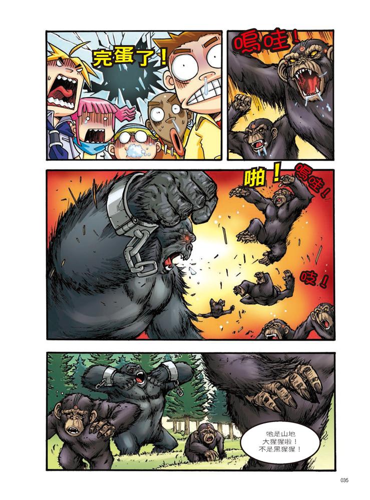 ◤博客來BOOKS◢ 暢銷書榜《推薦》X萬獸探險隊:(2) 霸王大對決 大猩猩VS棕熊(附學習單)