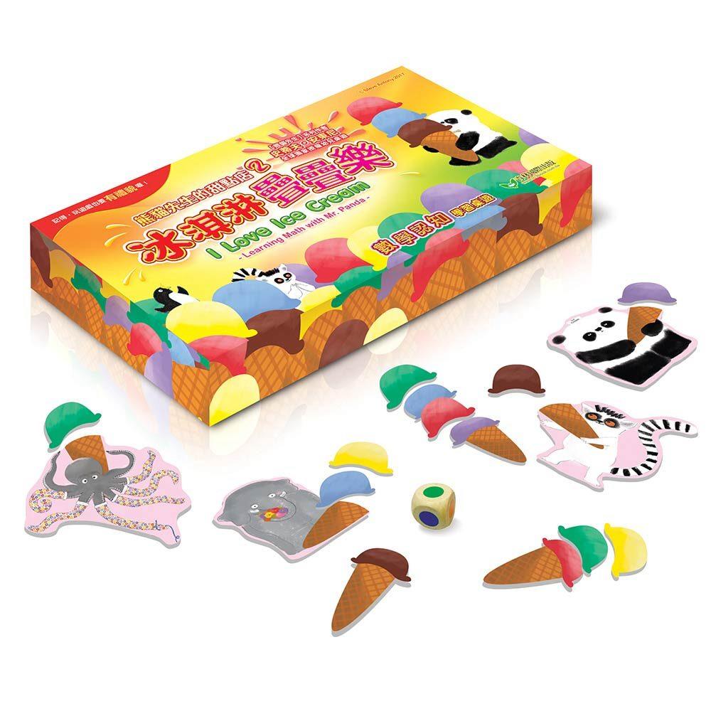 熊貓先生的甜點店02:冰淇淋疊疊樂 數學認知牌卡遊戲組
