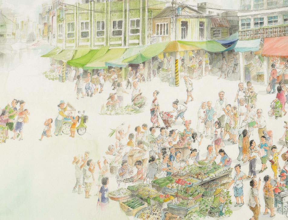 ◤博客來BOOKS◢ 暢銷書榜《推薦》菜市:畫家帶你逛菜市