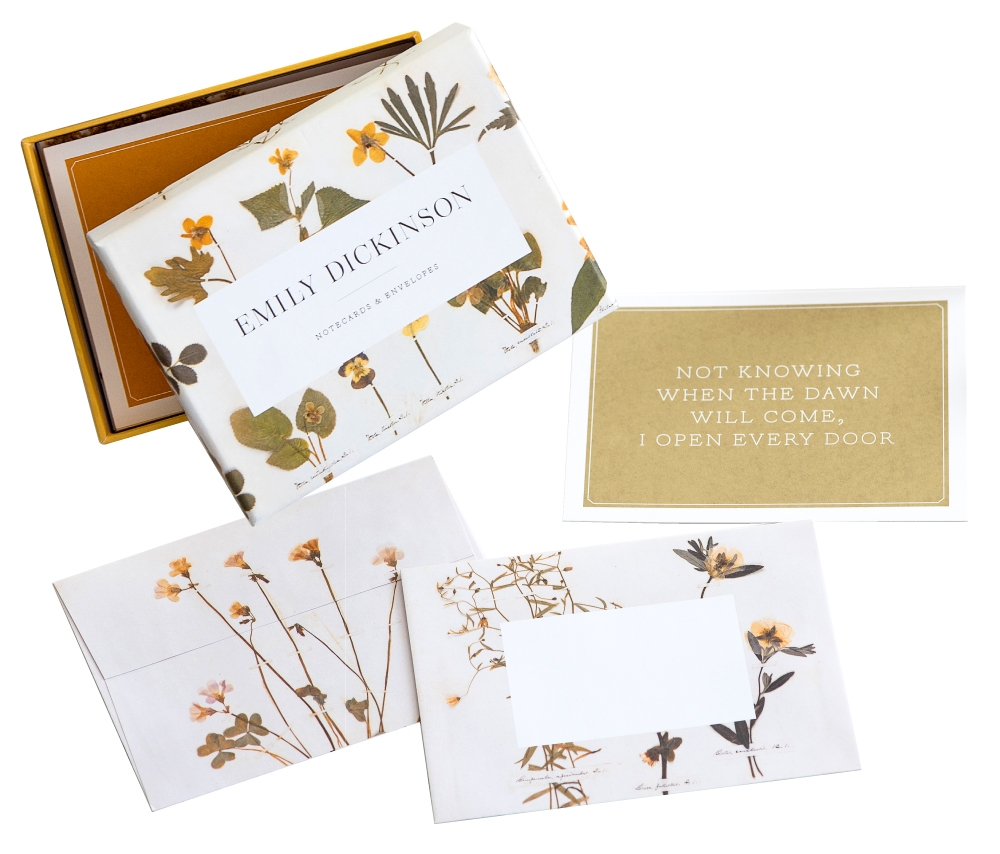 詩人Emily Dickinson古典押花詩句盒卡