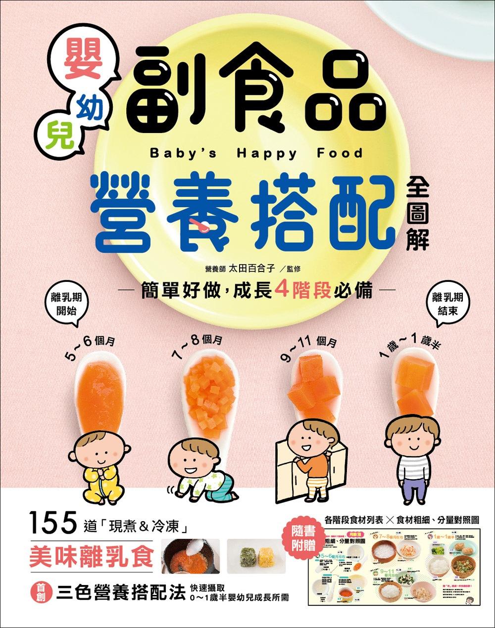 嬰幼兒副食品營養搭配全圖解:簡單好做,成長4階段必備!155道「現煮&冷凍」美味離乳食