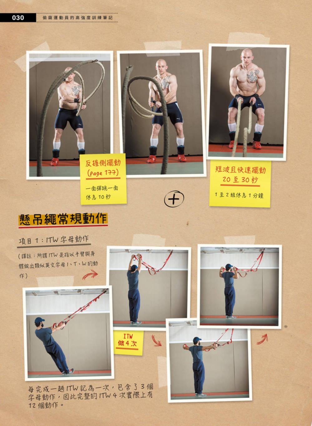 ◤博客來BOOKS◢ 暢銷書榜《推薦》偷窺運動員的高強度訓練筆記:壺鈴、槓鈴、戰繩、沙袋、輪胎、地雷管全面啟動
