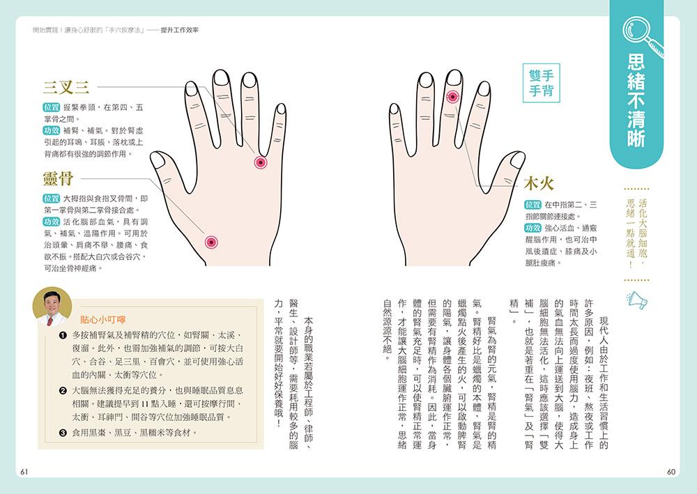 ◤博客來BOOKS◢ 暢銷書榜《推薦》《終結痠痛 減壓手穴按摩法》:快速取穴,一按見效!史上最好找的手穴對症按摩,鬆筋、目明、醒腦、美肌、瘦身、通便、舒眠通通都有感!  【附贈GALAXY速效對症按摩手套一雙】