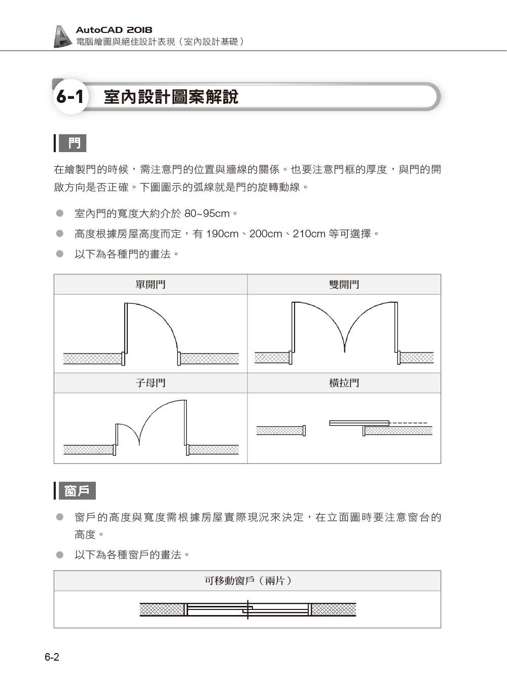 ◤博客來BOOKS◢ 暢銷書榜《推薦》AutoCAD 2018電腦繪圖與絕佳設計表現:室內設計基礎(附620分鐘基礎影音教學/範例檔)