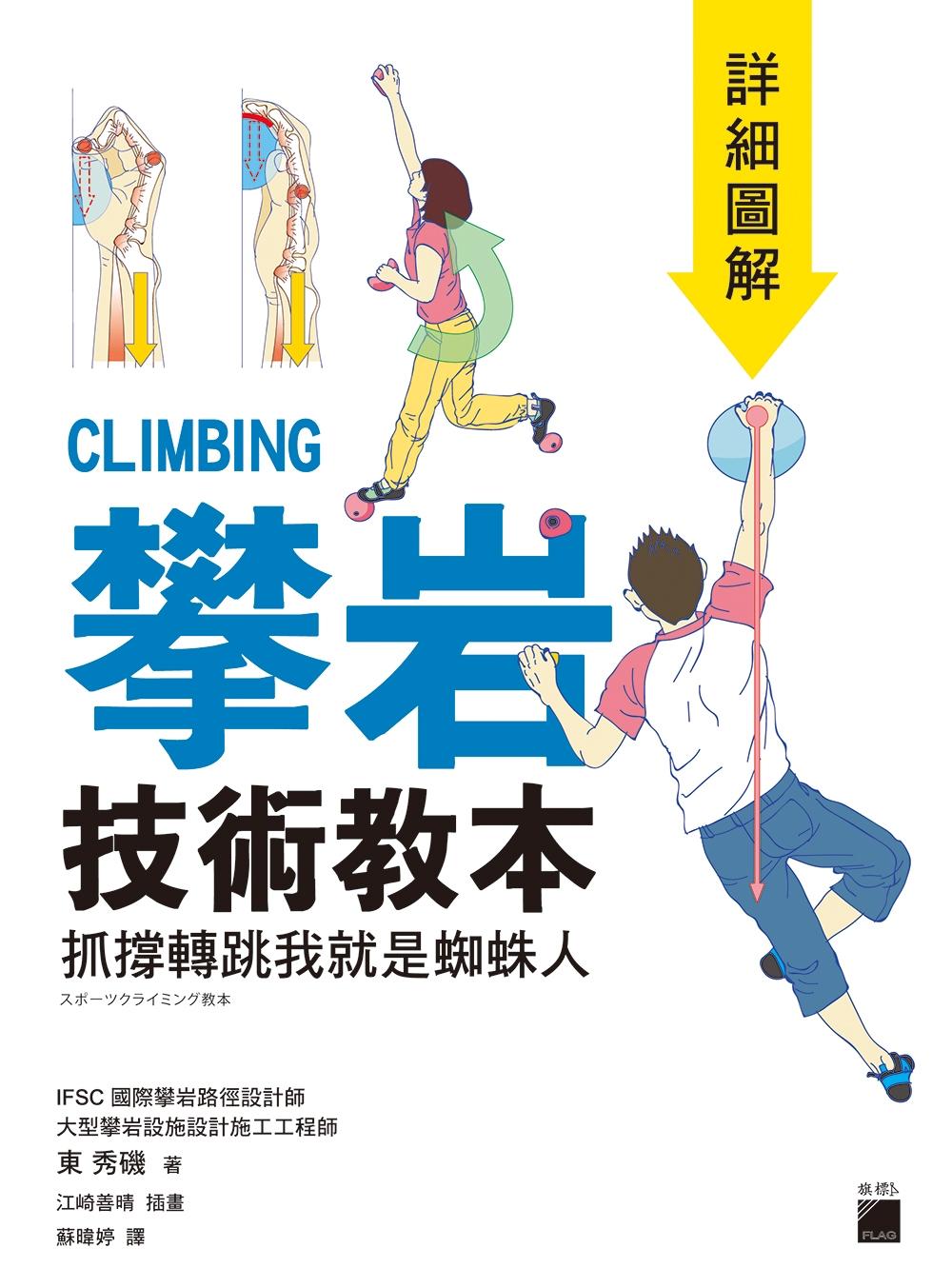 攀岩技術教本 詳細圖解:抓撐轉跳我就是蜘蛛人