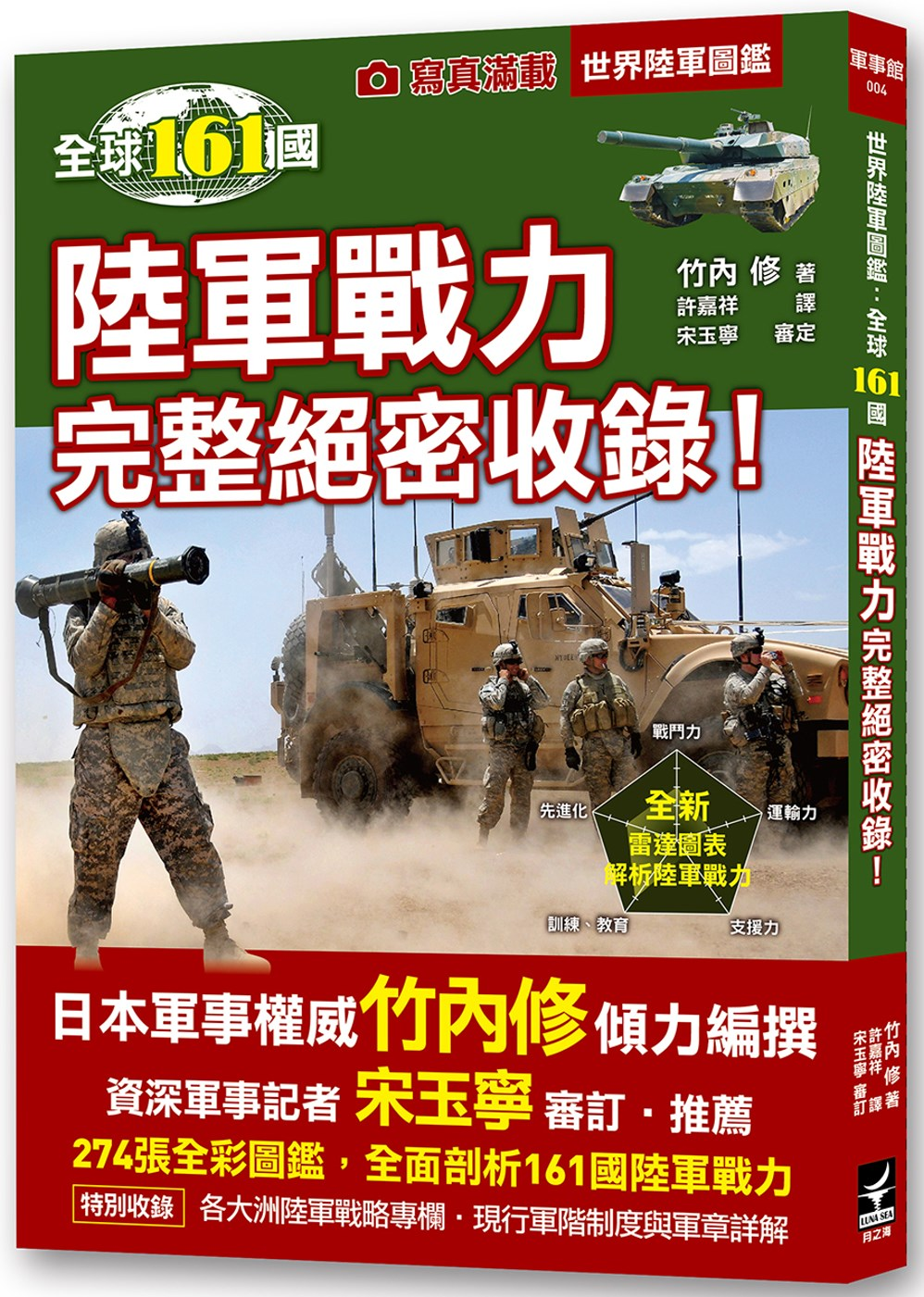 ◤博客來BOOKS◢ 暢銷書榜《推薦》世界陸軍圖鑑:全球161國陸軍戰力完整絕密收錄!