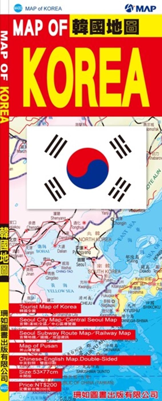MAP OF KOREA 韓國...