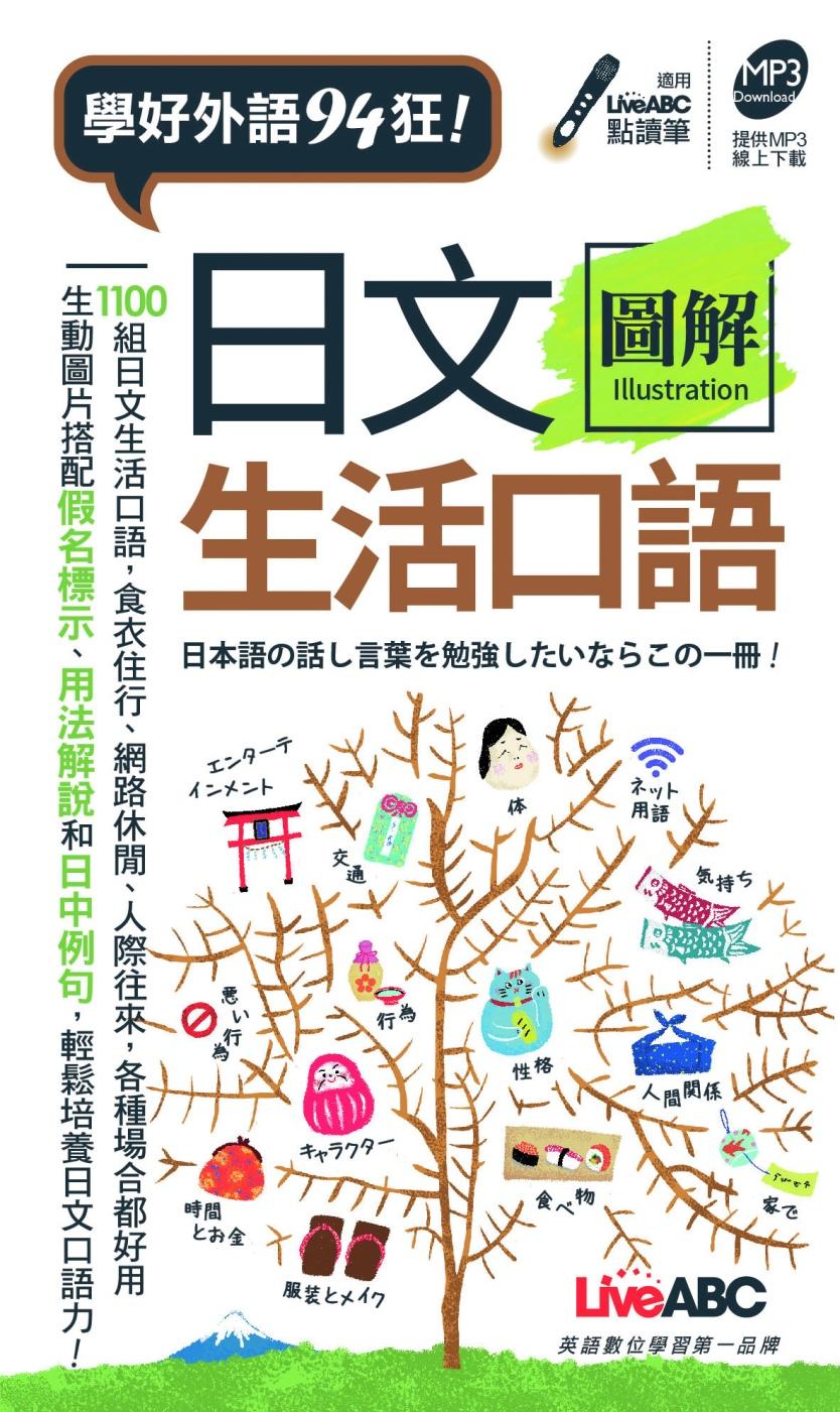 日文圖解生活口語口袋書:【書,可點讀】