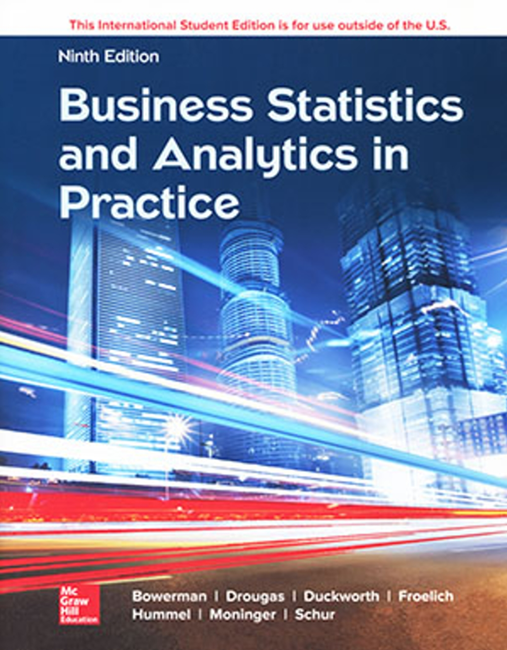 Business Statistics and Analytics in Practice(9版)