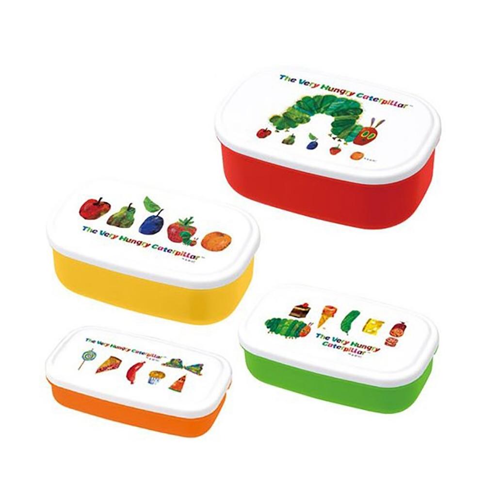 好餓的毛毛蟲餐盒:經典系列(四入一組-可微波)