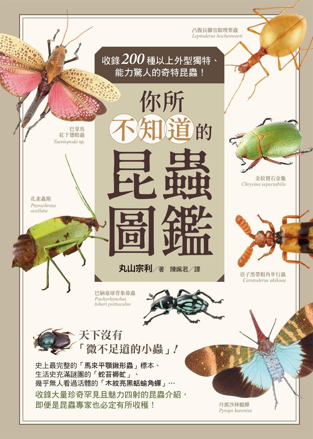 你所不知道的昆蟲圖鑑:收錄200種以上外型獨特、能力驚人的奇特昆蟲!