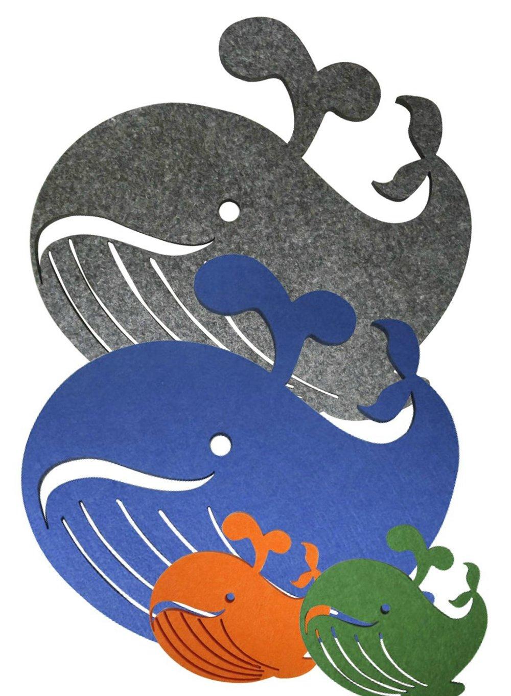《造型鯨魚家族》毛氈雷切環保隔...