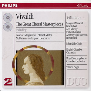Vivaldi: Great Choral Masterpieces  Ameling