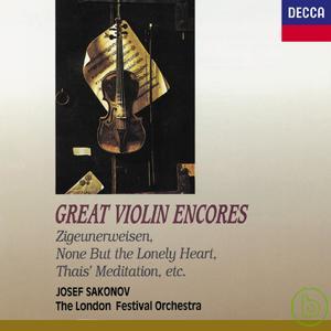 Great Violin Encores: Zigeunerweisen None bot
