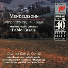 Pablo Casals  Mendelssohn:Symphony No.4、Octet