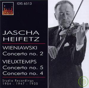 Jascha Heifetz plays Wieniawski  Vieuxtemps