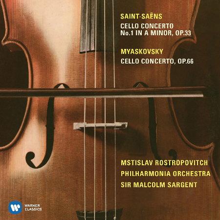 羅斯托波維奇世紀典藏─聖桑 米亞斯科夫斯基:大提琴協奏曲  羅斯托波維奇〈大提琴〉沙堅特指