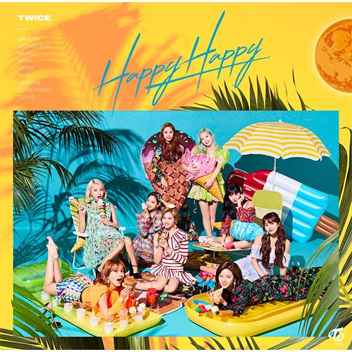 TWICE 日版 Happy Happy 第四張單曲 通常盤 (日本進口版)