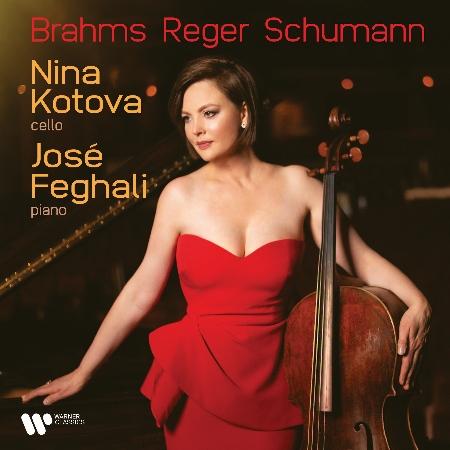 布拉姆斯、里格與舒曼大提琴作品集 /  妮娜.柯托娃〈大提琴〉荷西.費蓋利〈鋼琴〉歐洲進口盤
