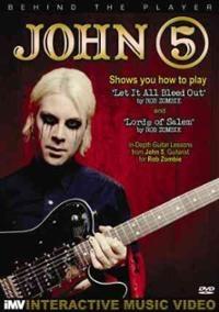John 5  Behind the player Marilyn manson 吉他手