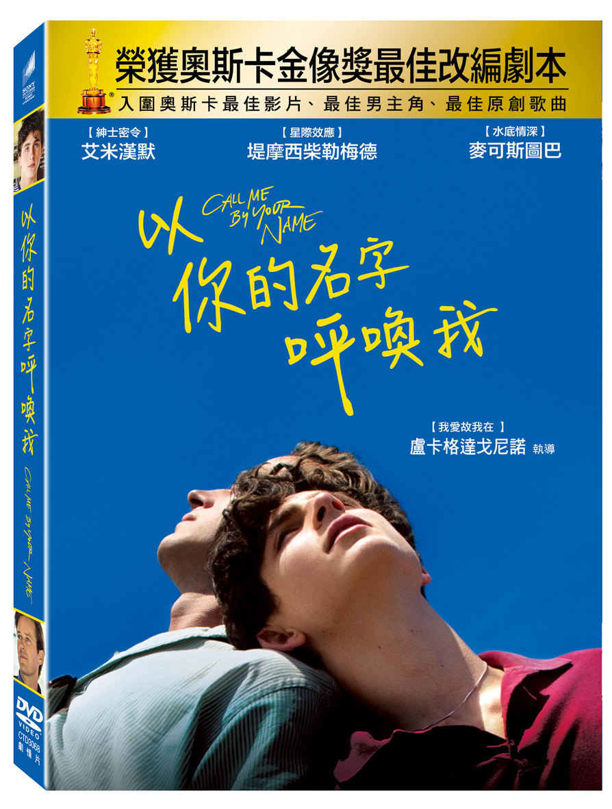 以你的名字呼喚我 (DVD)(Call Me By Your Name)