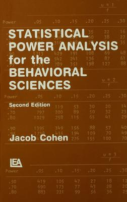 Statistical power analysis for the behavioral sciences /