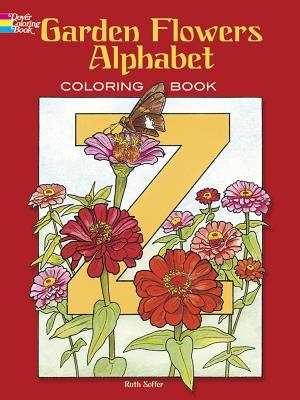 Garden Flowers Alphabet: Coloring Book