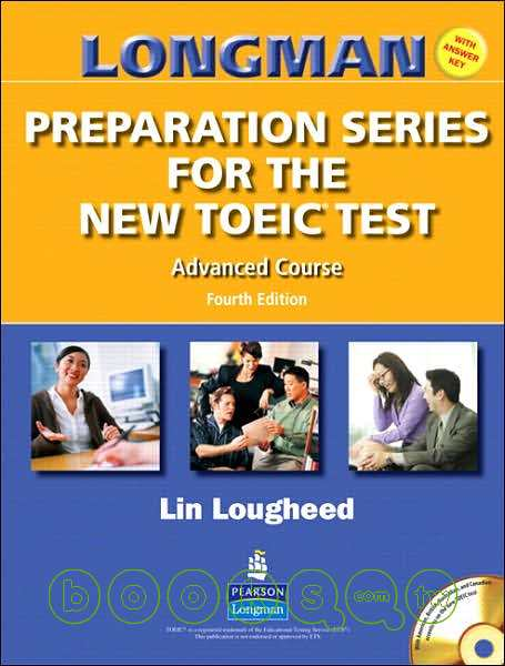 Longman preparation series for the new TOEIC test.