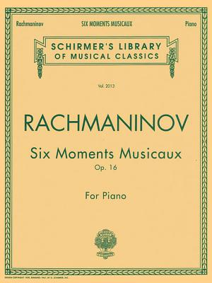 Six Moments Musicaux Op. 16: Piano Solo