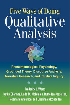 Five ways of doing qualitative analysis : phenomenological psychology, grounded theory, discourse analysis, narrative research, and intuitive inquiry /