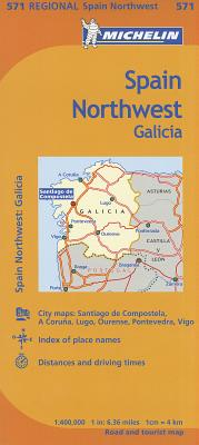 Michelin Map Spain Northwest Galicia