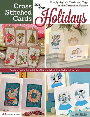 Cross Stitched Cards for the Holidays: Simply