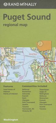 Rand Mcnally Puget Sound Washington Regional Map