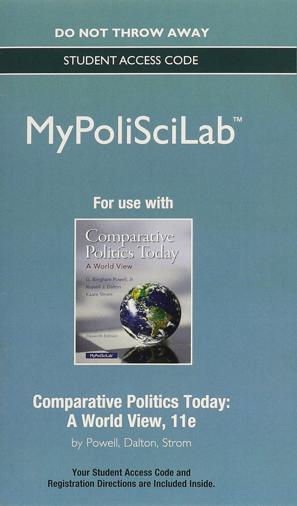 Comparative Politics Today, MyPoliSciLab Standalone Access Card: A World View