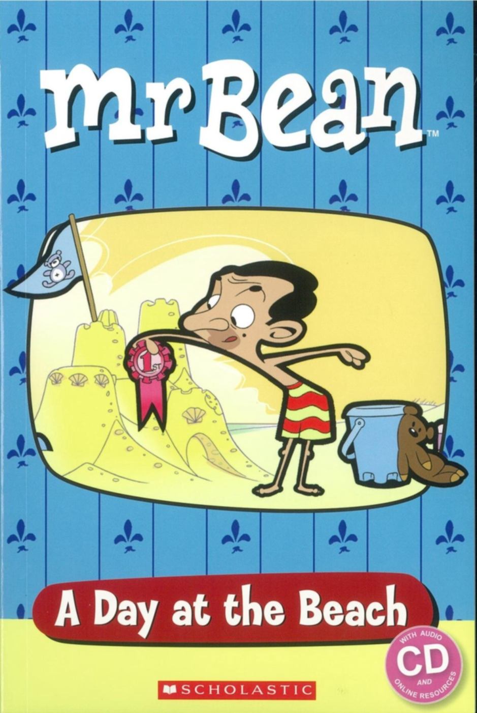 Scholastic Popcorn Readers Starter Level: Mr. Bean: A Day at the Beach with CD