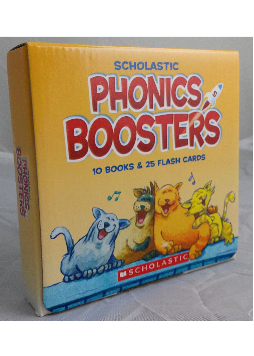 Scholastic Phonics Boosters Set #1 with CD (10 Books & 25 Flash Cards)