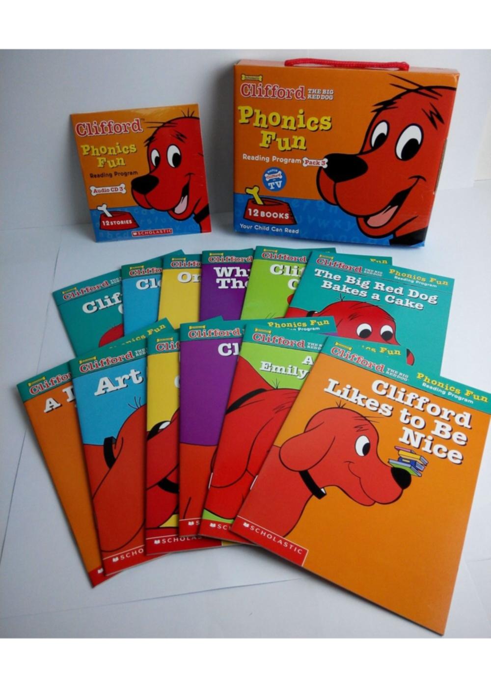 Clifford Phonics Fun: Reading Program Pack 3 (12 Books+CD)