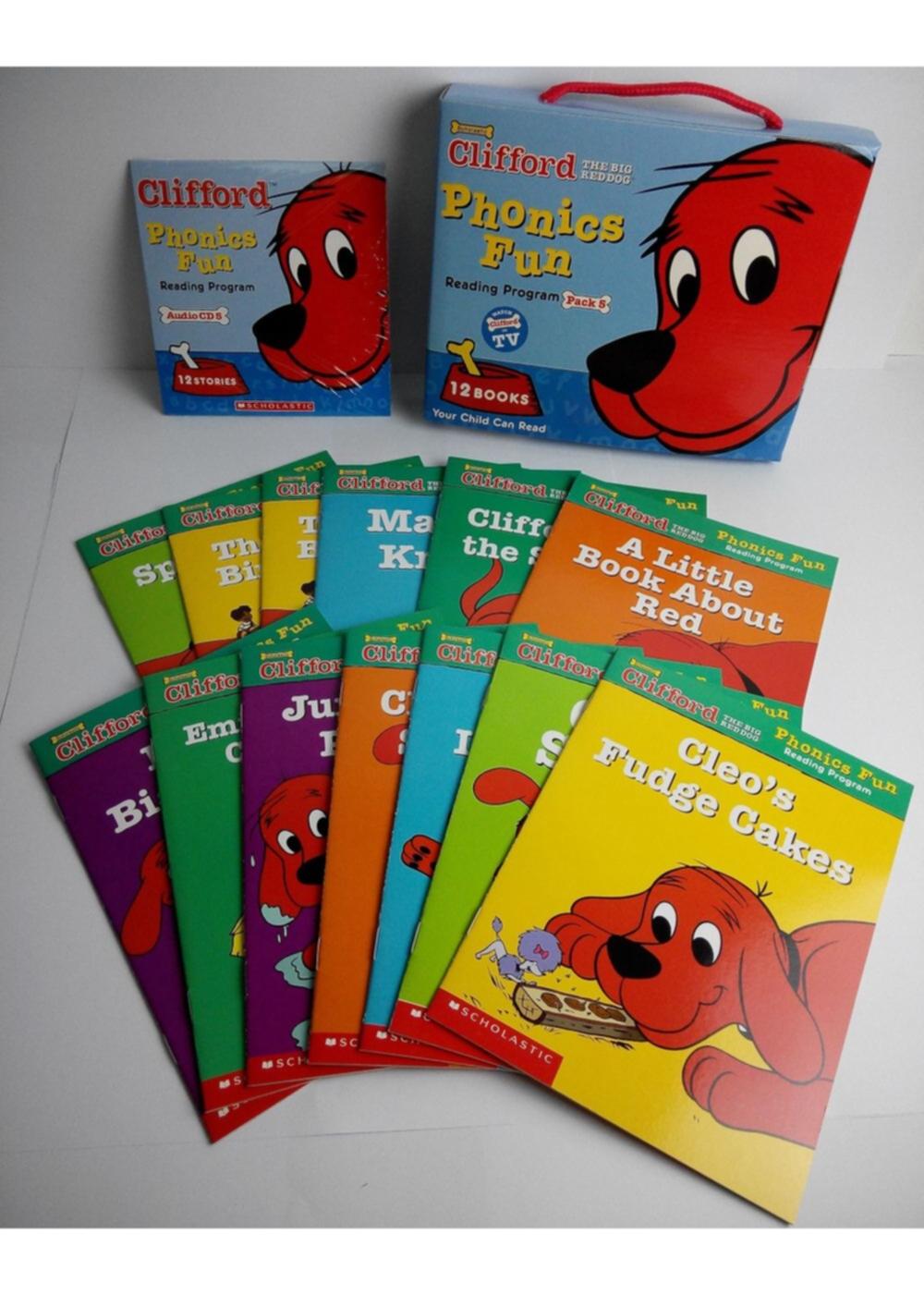 Clifford Phonics Fun: Reading Program Pack 5 (12 Books+CD)