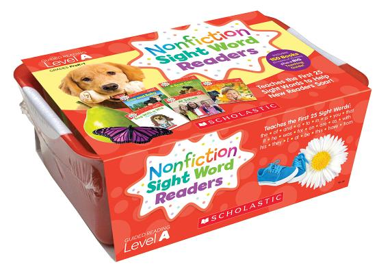 Nonfiction Sight Word Readers Classroom Tub, Level A, Grades PreK-1: Teaches the First 25 Sight Words to Help New Readers Soar!