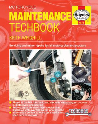 Haynes Motorcycle Maintenance Techbook: Servicing and Minor Repairs for All Motorcycles and Scooters