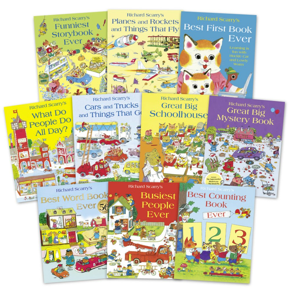 《Richard Scarry 最強經典繪本套書》(10冊合售) Richard Scarry's Best Collection Ever