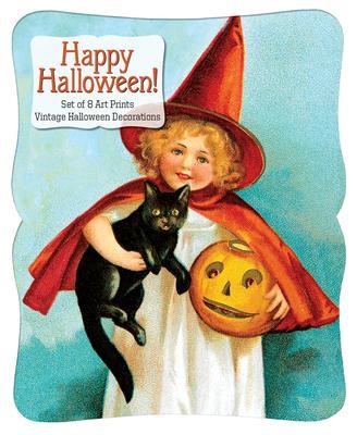 Happy Halloween - Vintage Decoration Print Set